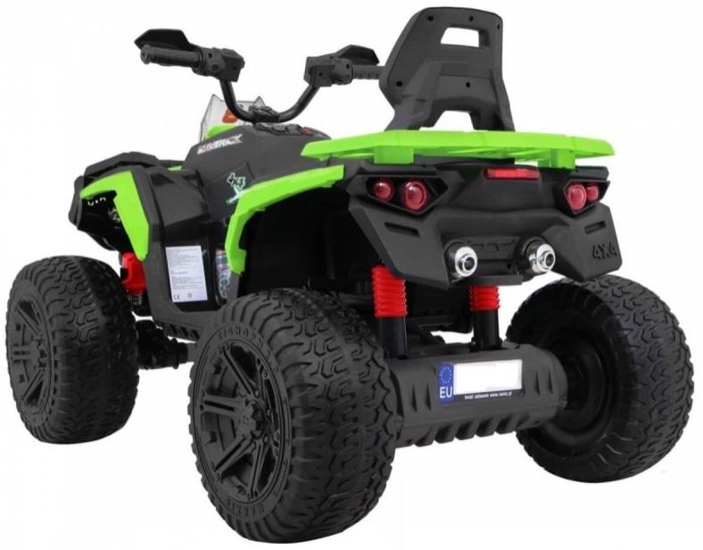 Atv electric cu roti din cauciuc 12V Nichiduta Hunter Pro Green