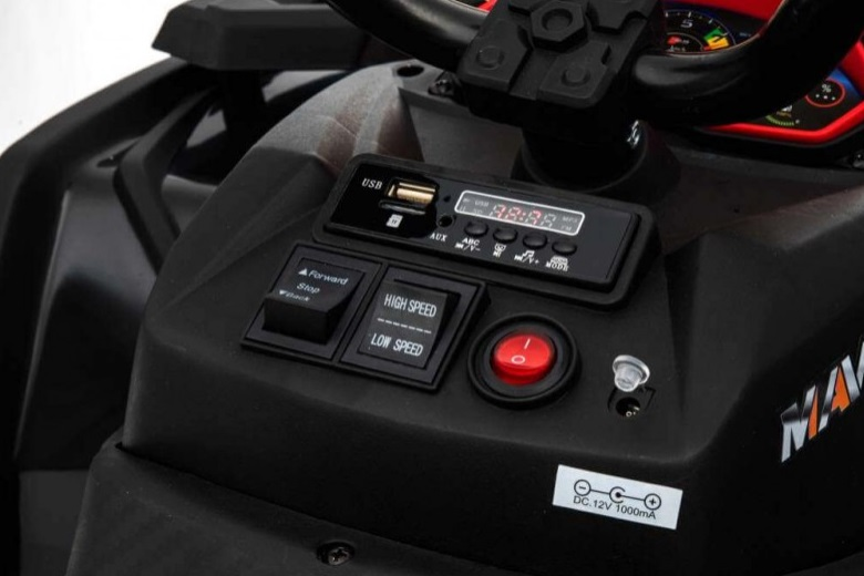 Atv electric cu roti din cauciuc 12V Nichiduta Hunter Pro Green - 3