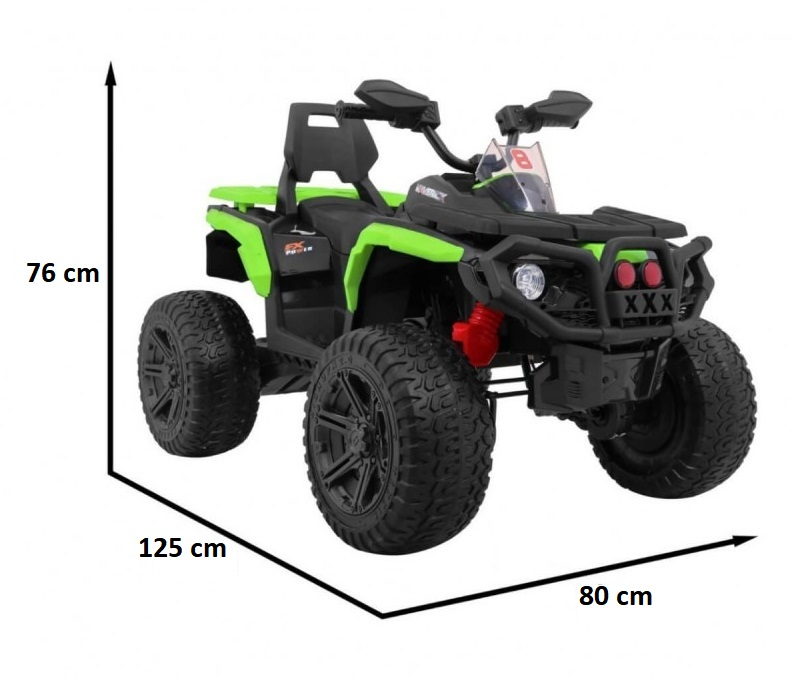 Atv electric cu roti din cauciuc 12V Nichiduta Hunter Pro Green - 5