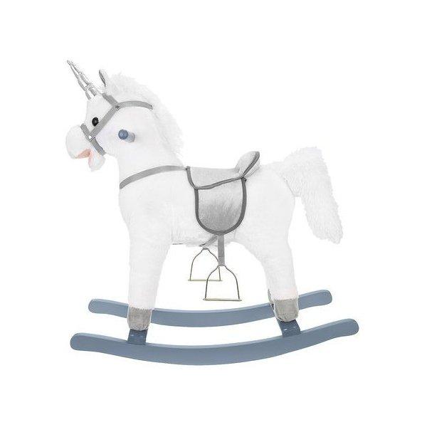 Balansoar unicorn alb interactiv 65 cm Kruzzel MY6696