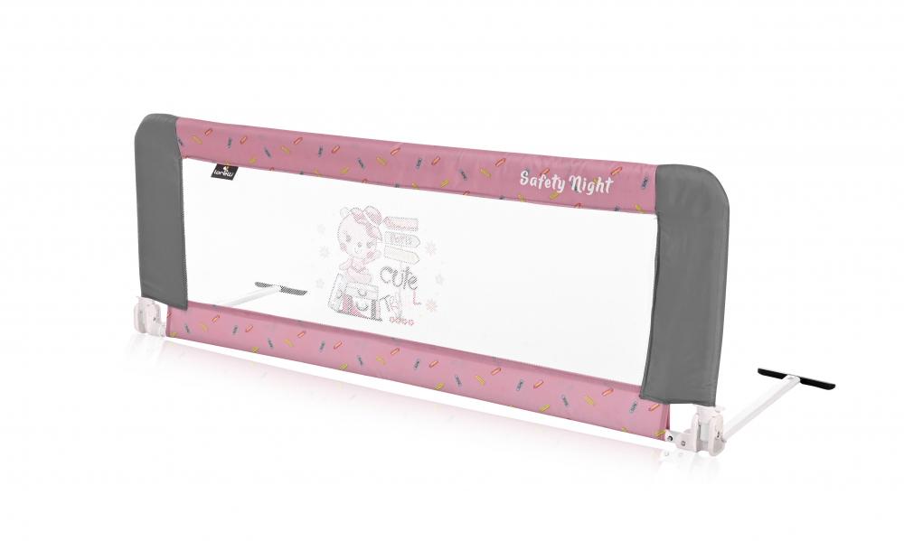 Bariera protectie pat Safety Night reglabila Pink Traveling