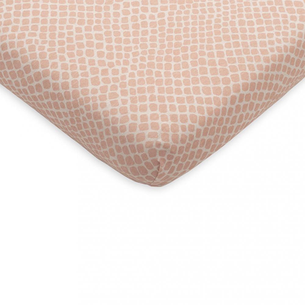 Cearsaf cu elastic Jollein 60x120 cm Snake roz