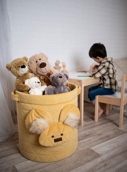 Cufar textil pentru jucarii Teddy Mustard