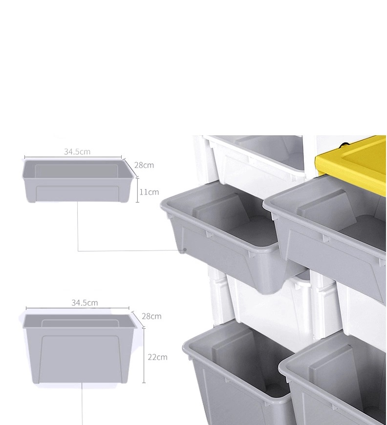 Dulap modular pentru depozitare jucarii Nichiduta 11 Storage Box Pink