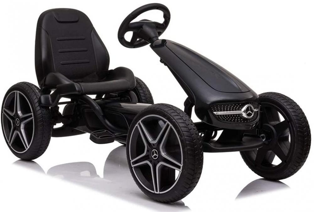 Kart cu pedale si roti EVA Mercedes Benz Blue