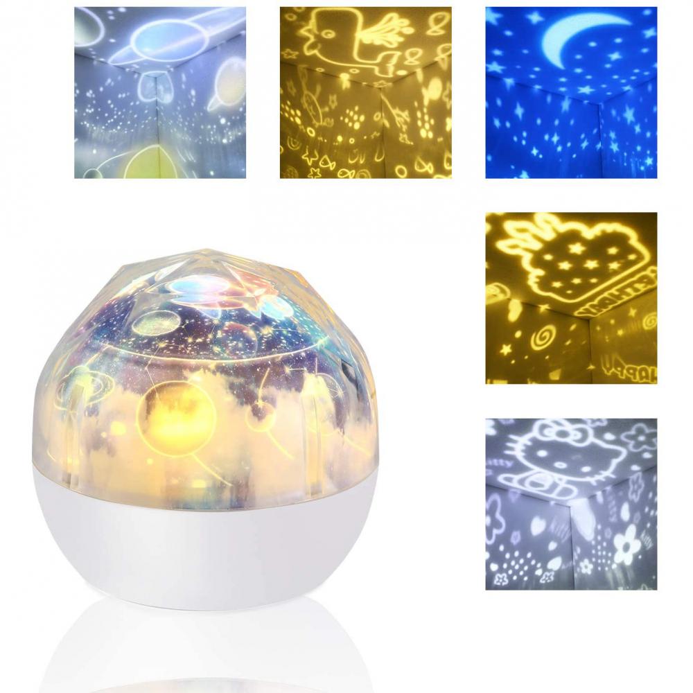 Lampa de veghe si proiector Diamond Bambinice BN023 imagine