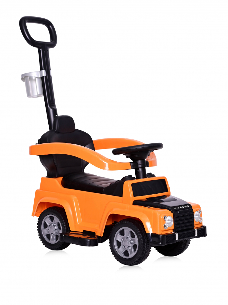 Masinuta de teren X-Treme cu maner parental orange imagine