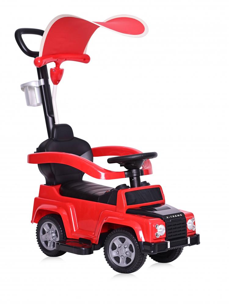 Masinuta de teren X-Treme cu maner parental si copertina red