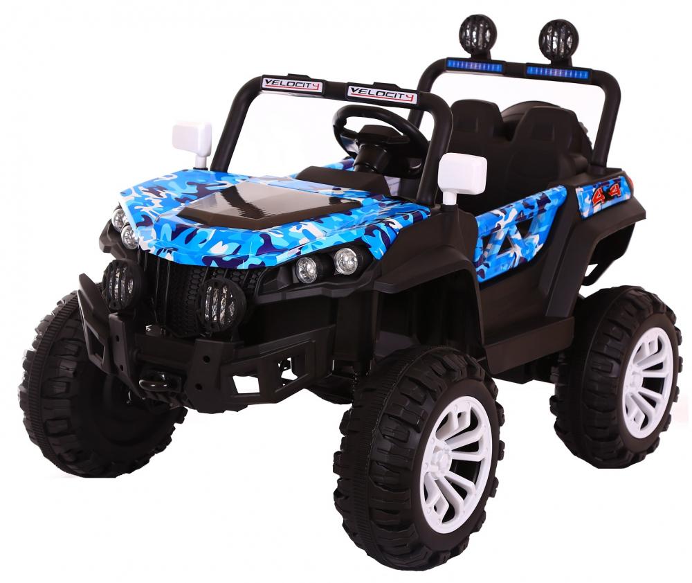 Masinuta electrica 4x4 Nichiduta Shadow Blue Army - 2