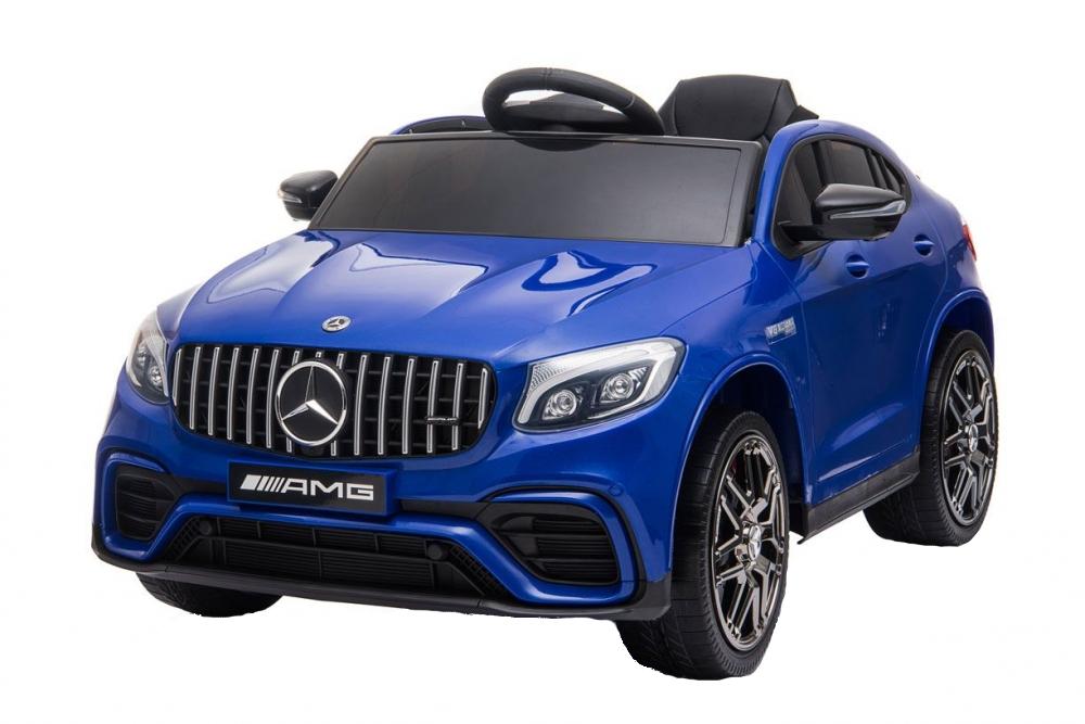 Masinuta electrica Mercedes Benz GLC 63 Blue cu roti din cauciuc