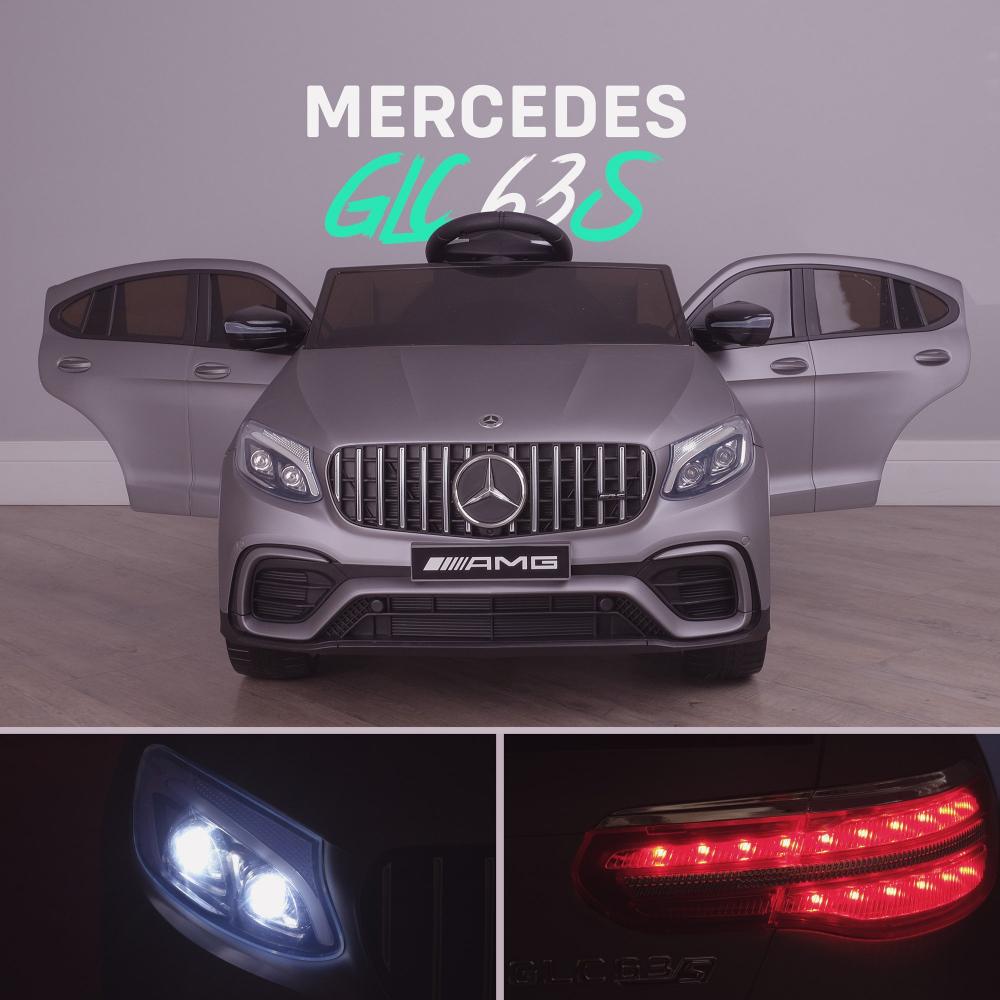 Masinuta electrica Mercedes Benz GLC 63 Blue cu roti din cauciuc - 2