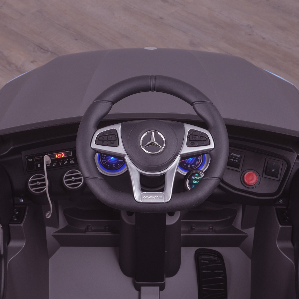 Masinuta electrica Mercedes Benz GLC 63 Blue cu roti din cauciuc - 3