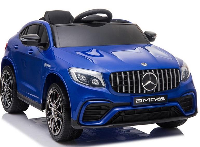 Masinuta electrica Mercedes Benz GLC 63 Blue cu roti din cauciuc - 6