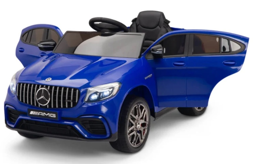 Masinuta electrica Mercedes Benz GLC 63 Blue cu roti din cauciuc - 7