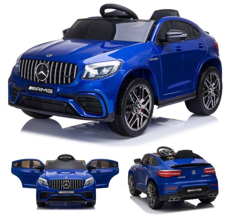 Masinuta electrica Mercedes Benz GLC 63 Blue cu roti din cauciuc - 8