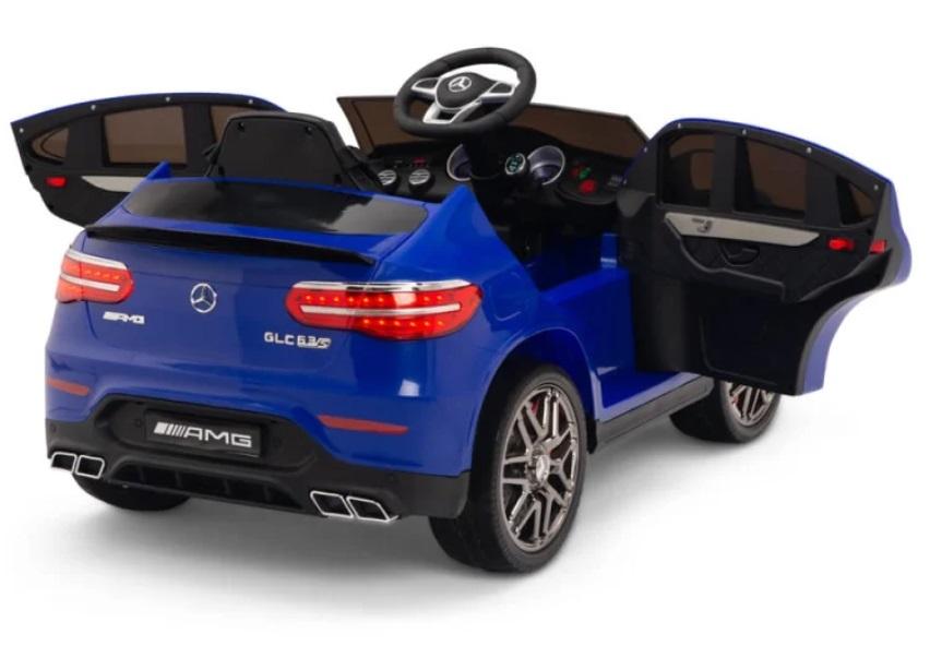 Masinuta electrica Mercedes Benz GLC 63 Blue cu roti din cauciuc - 9