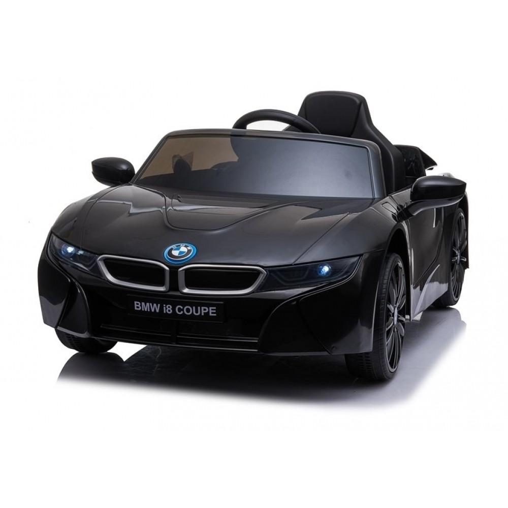 Masinuta electrica cu roti EVA si deschidere usi BMW I8 Coupe Negru - 1