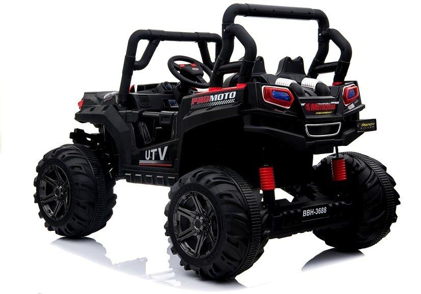 Masinuta electrica cu roti din cauciuc 12V Nichiduta UTV Pro White - 4