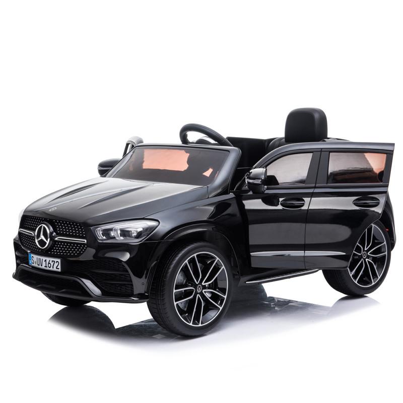 Masinuta electrica cu roti din cauciuc Mercedes GLE 450 AMG Black - 1