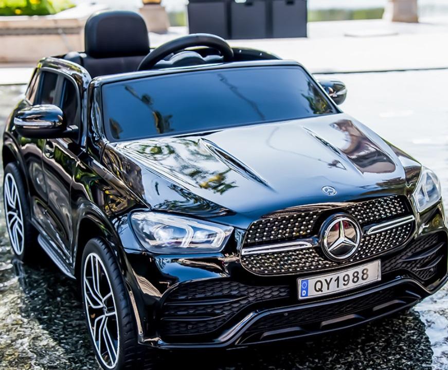 Masinuta electrica cu roti din cauciuc Mercedes GLE 450 AMG Black - 3