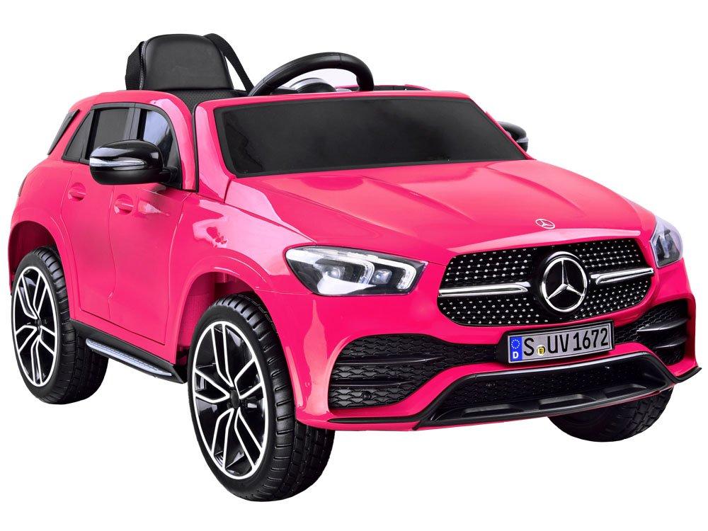 Masinuta electrica cu roti din cauciuc Mercedes GLE 450 AMG Pink - 9