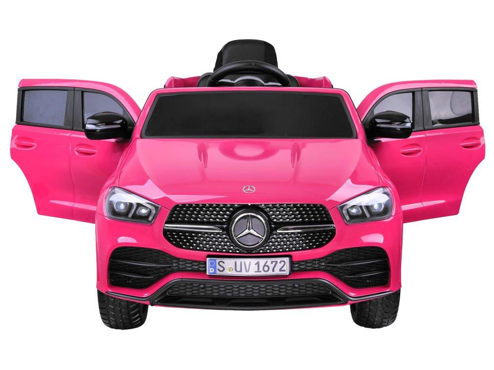Masinuta electrica cu roti din cauciuc Mercedes GLE 450 AMG Pink - 2