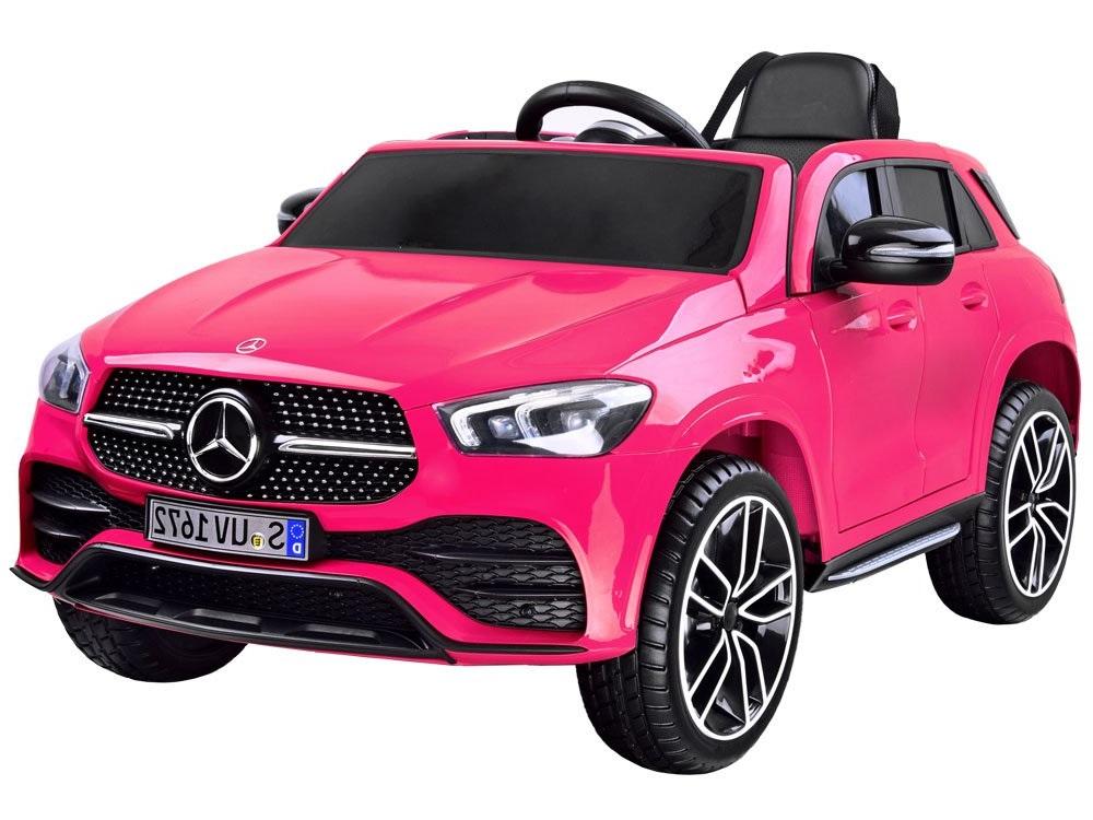 Masinuta electrica cu roti din cauciuc Mercedes GLE 450 AMG Pink - 7