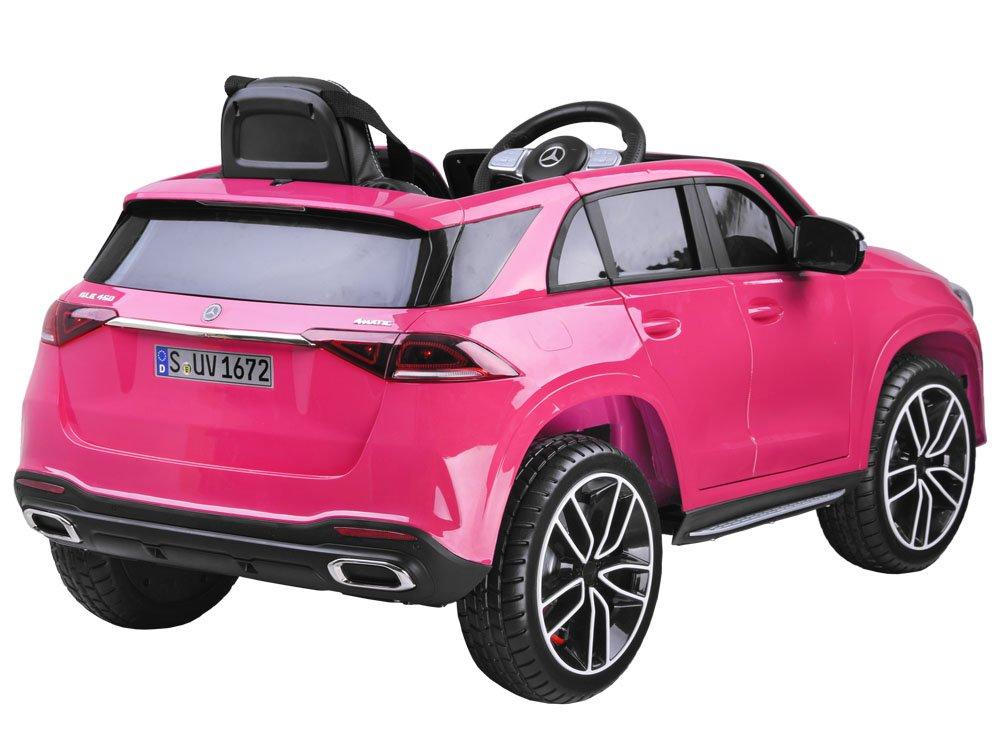 Masinuta electrica cu roti din cauciuc Mercedes GLE 450 AMG Pink - 8