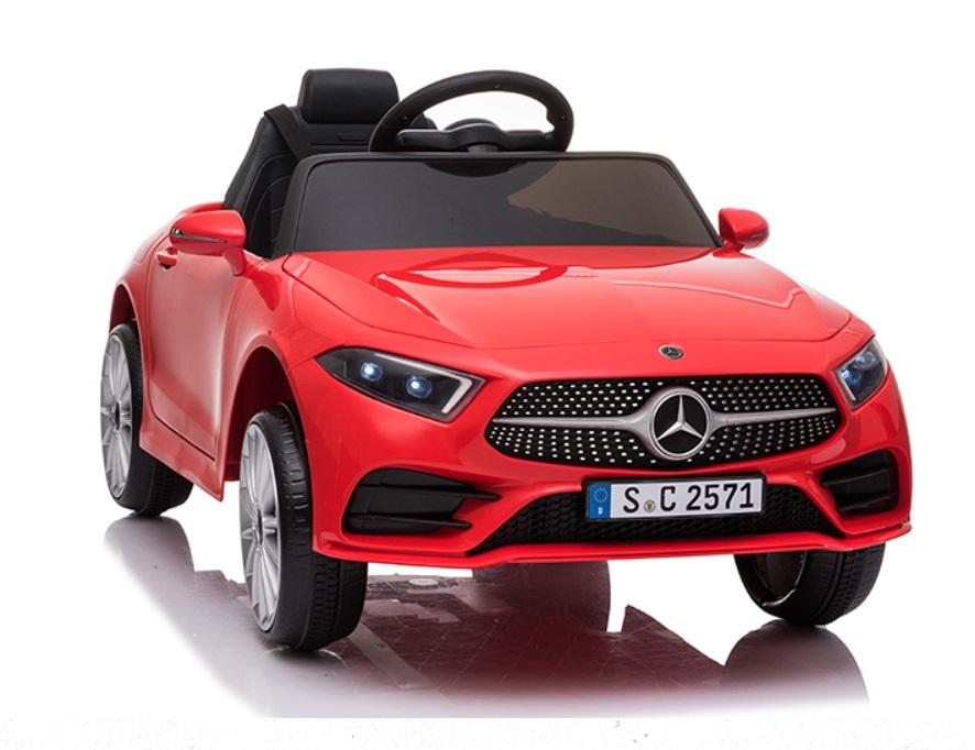 Masinuta electrica cu roti din cauciuc si scaun piele Mercedes CLS350 Red - 3