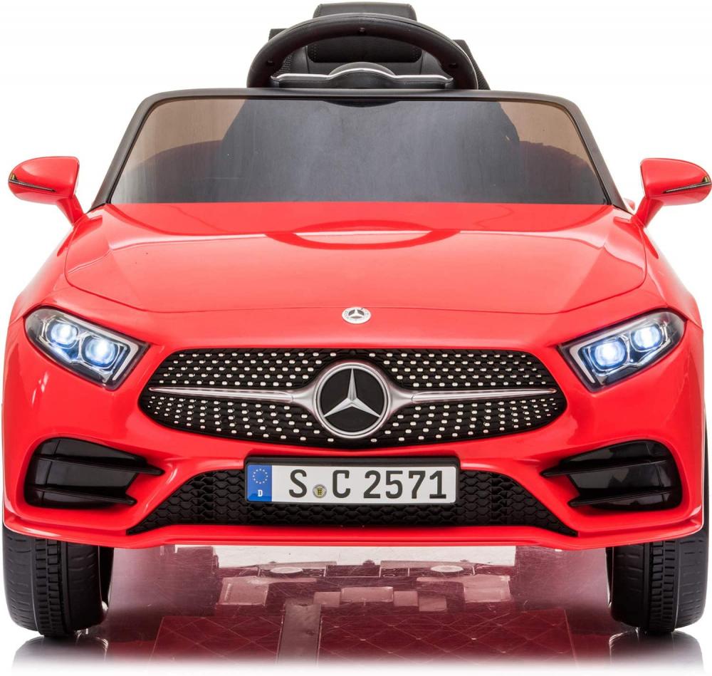 Masinuta electrica cu roti din cauciuc si scaun piele Mercedes CLS350 Red - 4