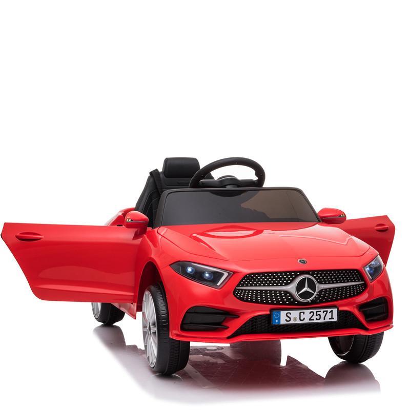 Masinuta electrica cu roti din cauciuc si scaun piele Mercedes CLS350 Red - 6