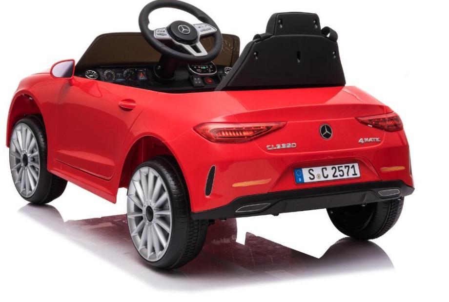Masinuta electrica cu roti din cauciuc si scaun piele Mercedes CLS350 Red - 8