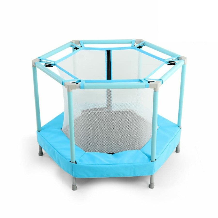 Mini trambulina pentru copii cu plasa interioara Nichiduta Jump Blue imagine