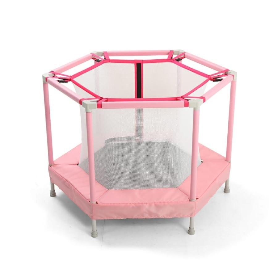 Mini trambulina pentru copii cu plasa interioara Nichiduta Jump Pink