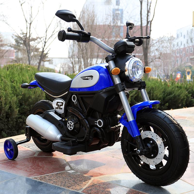 Motocicleta electrica cu roti gonflabile Nichiduta Rider Blue - 1