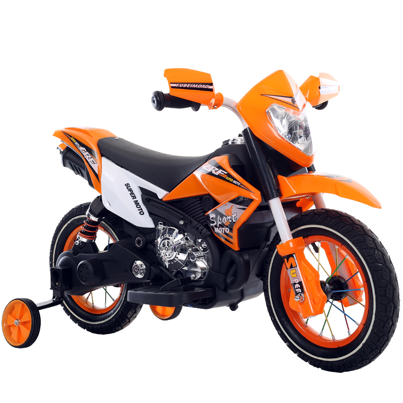 Motocicleta electrica cu roti gonflabile Nichiduta Super Moto Orange