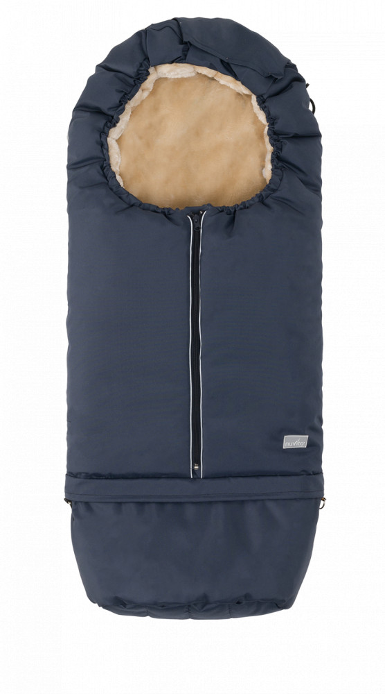 Sac de iarna 2 in 1 80105 cm Warm Blue Beige 9845 Nuvita Carry On