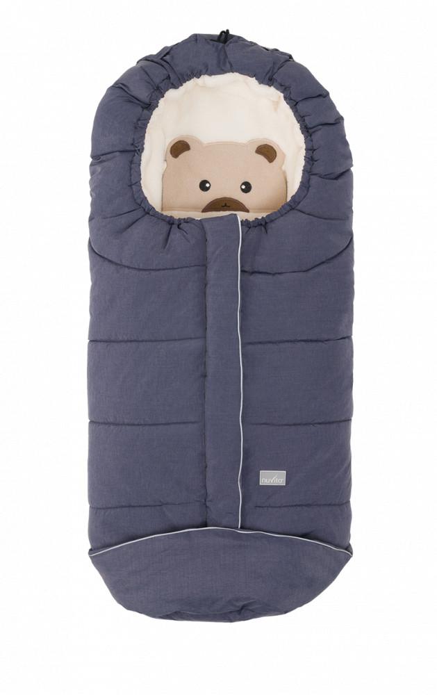Sac de iarna 100 cm Bear Melange Blue Beige 9605 Nuvita Junior Cuccioli