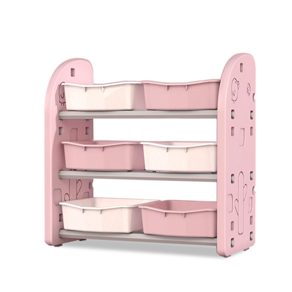 Organizator jucarii cu 6 cutii Nichiduta Birds Pink