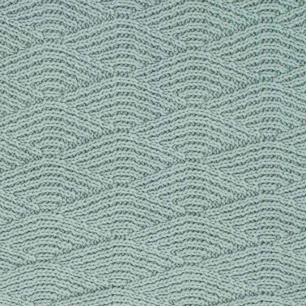 Paturica bebe cu fleece 100x150 cm Jollein River Ash-Green
