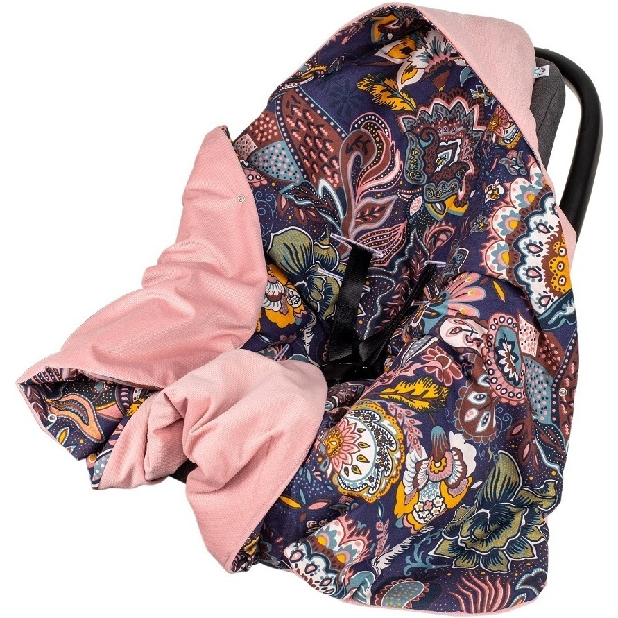 Paturica de infasat pentru scaun auto Velvet Infantilo IF19109 Boho MovRoz imagine