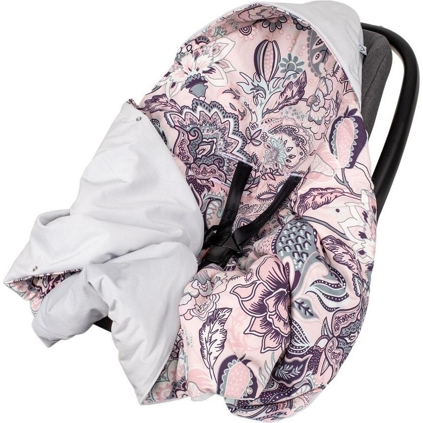 Paturica de infasat pentru scaun auto Velvet Infantilo IF19109 Boho RozGri imagine