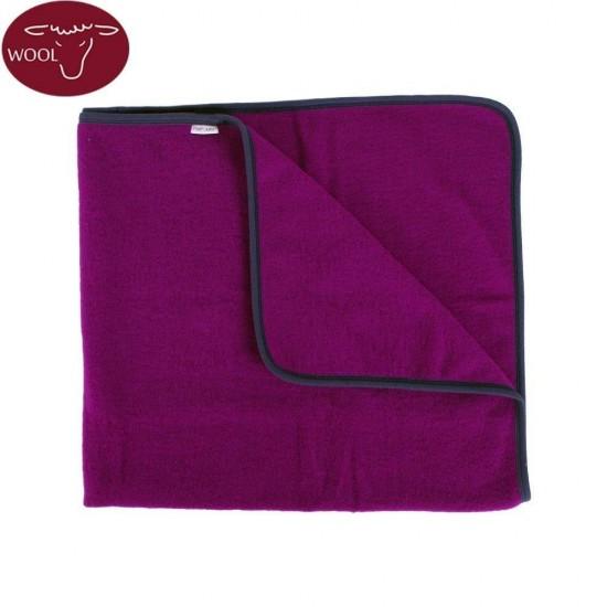 Paturica din lana merinos organica wool fleece 90x70 cm Iobio Viola