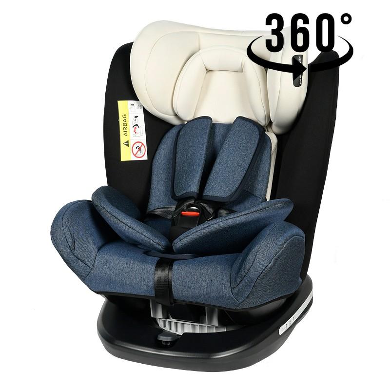 Scaun auto Tweety BlueJeans cu isofix rotativ 360 grade Crocodile 0-36 kg baza neagra