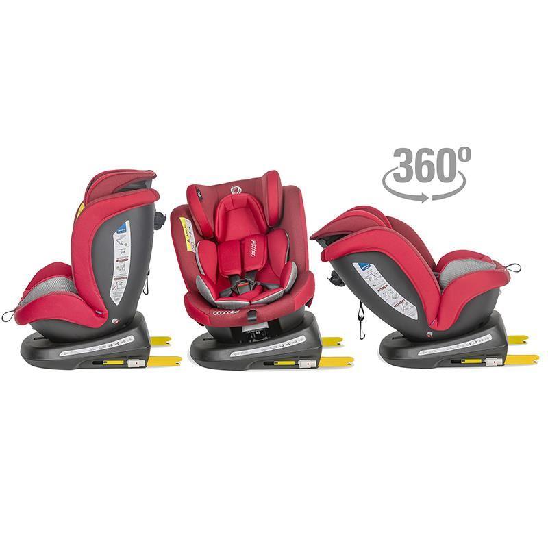 Scaun auto rotativ 0-36 kg Coccolle Mydo Dahlia red
