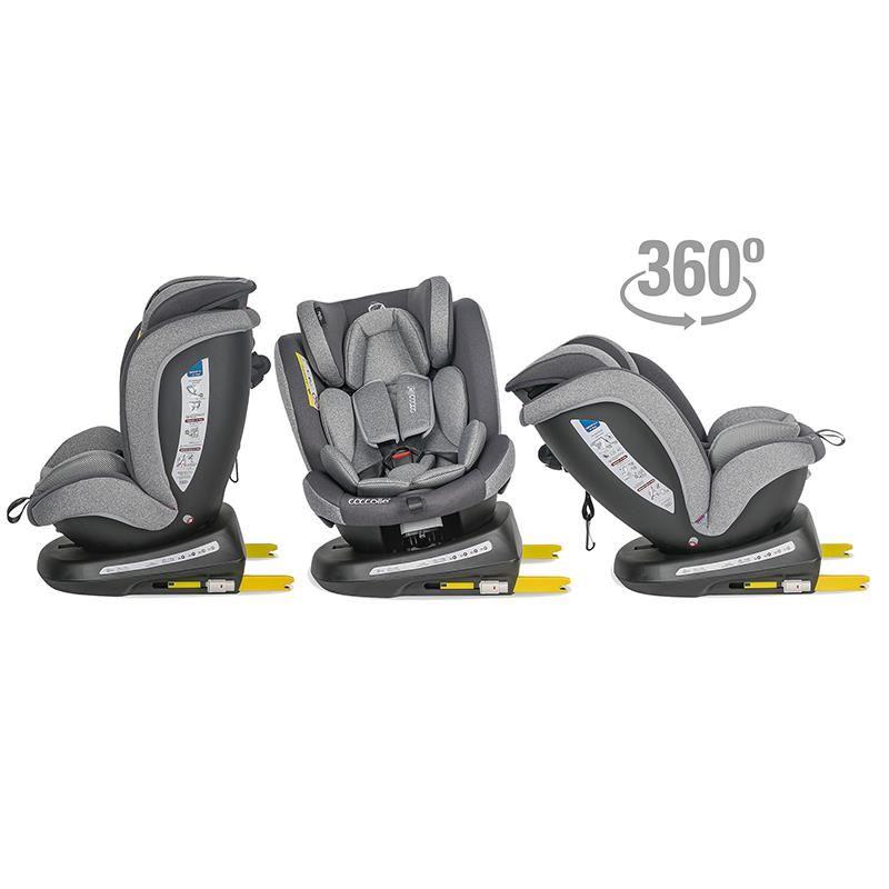 Scaun auto rotativ 0-36 kg Coccolle Mydo Urban grey