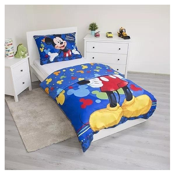 Set lenjerie pat copii Mickey Mouse 140x200 + 70x90 SunCity JFK018392 albastru
