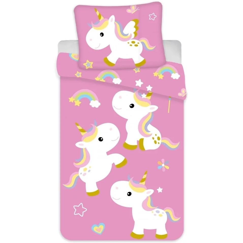 Set lenjerie pat copii Unicorn 100x135 + 40x60 SunCity BRM004054