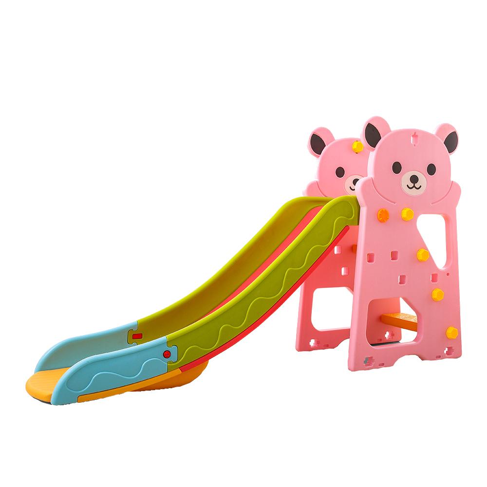 Nichiduta Tobogan Nichiduta Bear Pink 2in1 cu cos de baschet