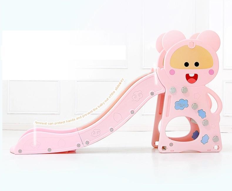 Tobogan Nichiduta Pink Happy Baby 2in1 cu cos de baschet imagine
